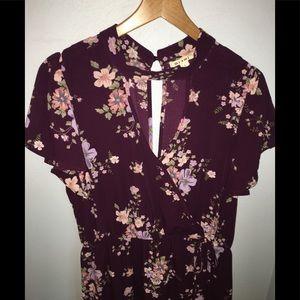 Francesca's maxi dress/romper with side slit!